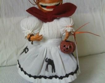 Little Halloween Pumpkin Girl