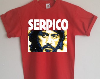Serpico T-Shirt - Al Pacino, Classic Film, ECO FRIENDLY PRINT, S - 2XL, Various Colours
