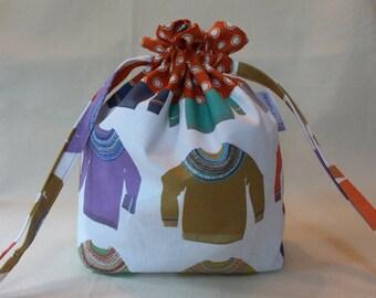 Fair Isle Yoke Sweater Project Bag
