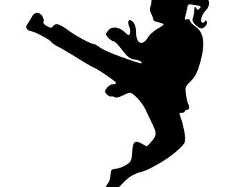 Karate girl   Etsy
