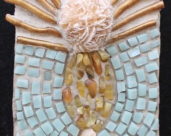 SPRING SALE !!! Mosaic Wall Art, Mosaic Wall Hanging, Mosaic Wall Panel: Rays