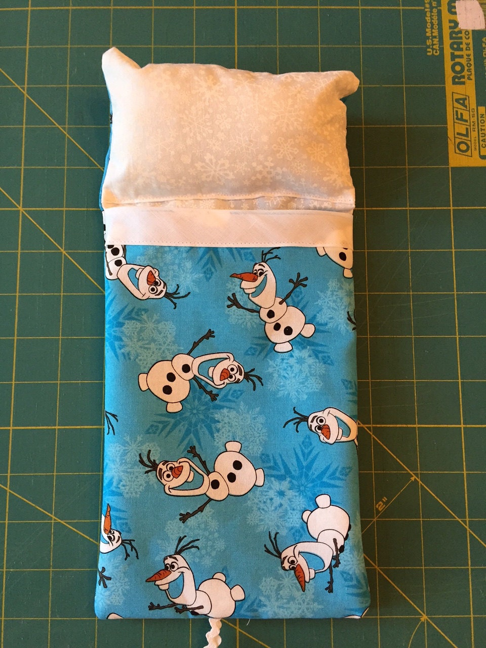 Olaf Sleeping Bag With Attached Pillow For Disney Princess