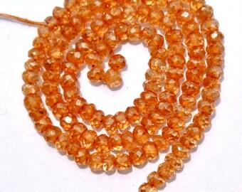 13.5 Inches Mystic Champagne Quartz Micro Faceted Rondelle Beads 3.5mm Champagne Quartz Rondelle Beads, Mystic Quartz Beads, Gemstone Beads