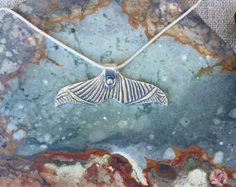 Whale Tail Fine Silver Pendant