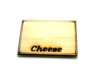 Engraved Cheese Board Dolls House Miniature