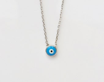 evil eye necklace silver