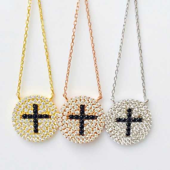 cross necklace cubic zirconia CLEARANCE SALE