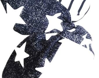 Rockabilly Pin up Headband Red Stars Wire
