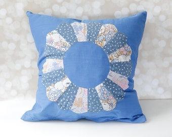 Unique Hand Sewn Pillow Cover Featuring Vintage Quilt Pieces