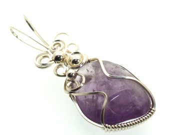 Amethyst Wire Wrapped Crystal Gem Pendant Design 12
