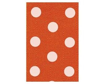 "2.5"" Satin Orange/White Polka Dot Ribbon - (10 Yards) - 9818-09-19"