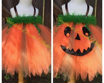 Halloween pumpkin Tutu Dress,Pumpkin tutu, Orange tutu, Orange tutu dress,Halloween,Pumpkin Patch outfit,