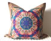 "Bohemian cushion cover hippie pillow cover in multicolour 18x18"""