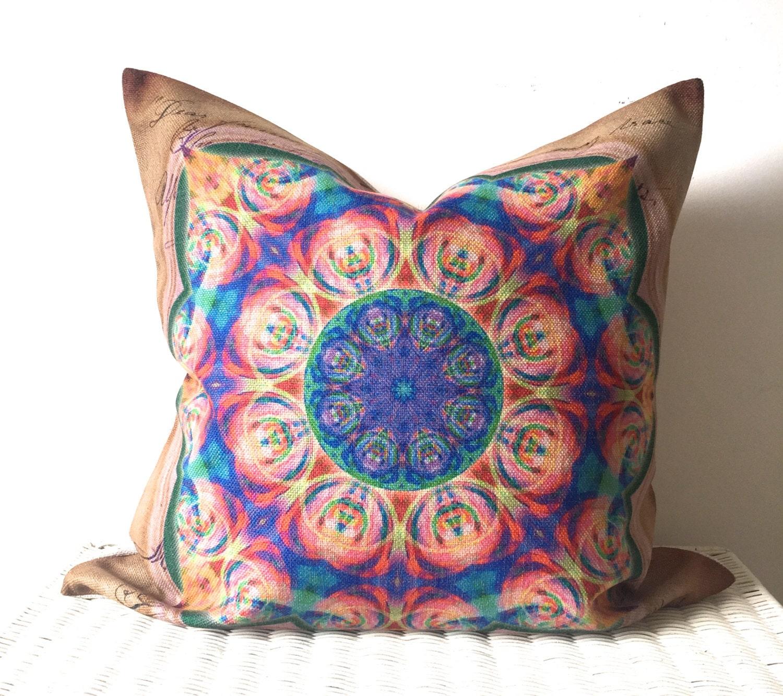 Bohemian Pillow Cover Hippie Cushion Bohemian Cushion Cover