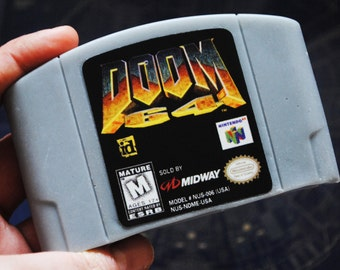 N64 64 - Retro and geeky! Handmade cartridge soap -Doom Parody Cart