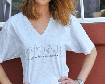 You've Been Noted Atlanta Skyline - Gray V-Neck