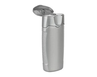 120 (2 oz) Silver Oval plastic bottle with Flip Cap included. Free Shipping!