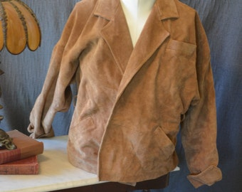 Vintage Leather Suede Western Style Jacket (Size: Small)