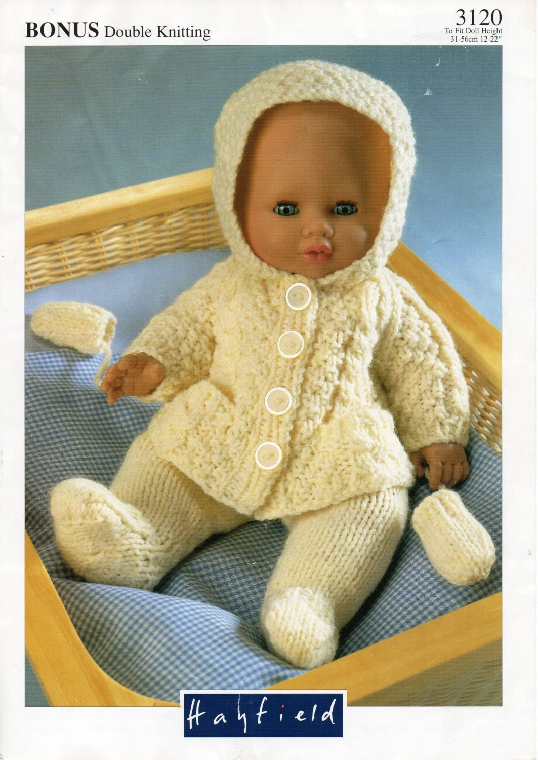 Doll Jacket Knitting Pattern : baby dolls clothes knitting pattern PDF doll pram set hooded