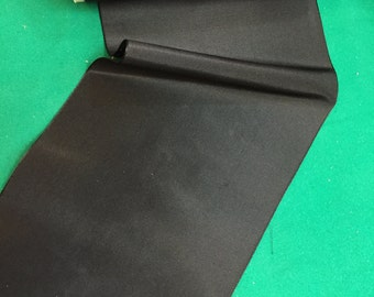 """Vintage 5 7/8"""" inch black taffeta ribbon, made of a silk/rayon blend, Sold by the Yard"""