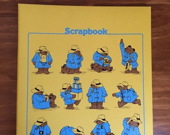 Paddington Bear scrapbook, vintage 1970s
