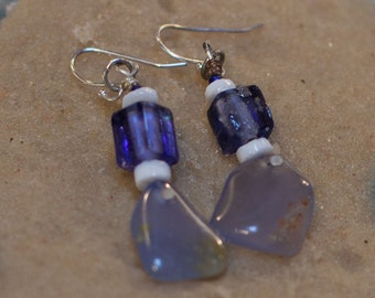 Blue Chalcedony Earrings (ESChal1)
