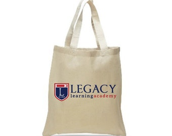 School Tote Bag, Teacher's Carryall Bag, Legacy Learning Academy Tote