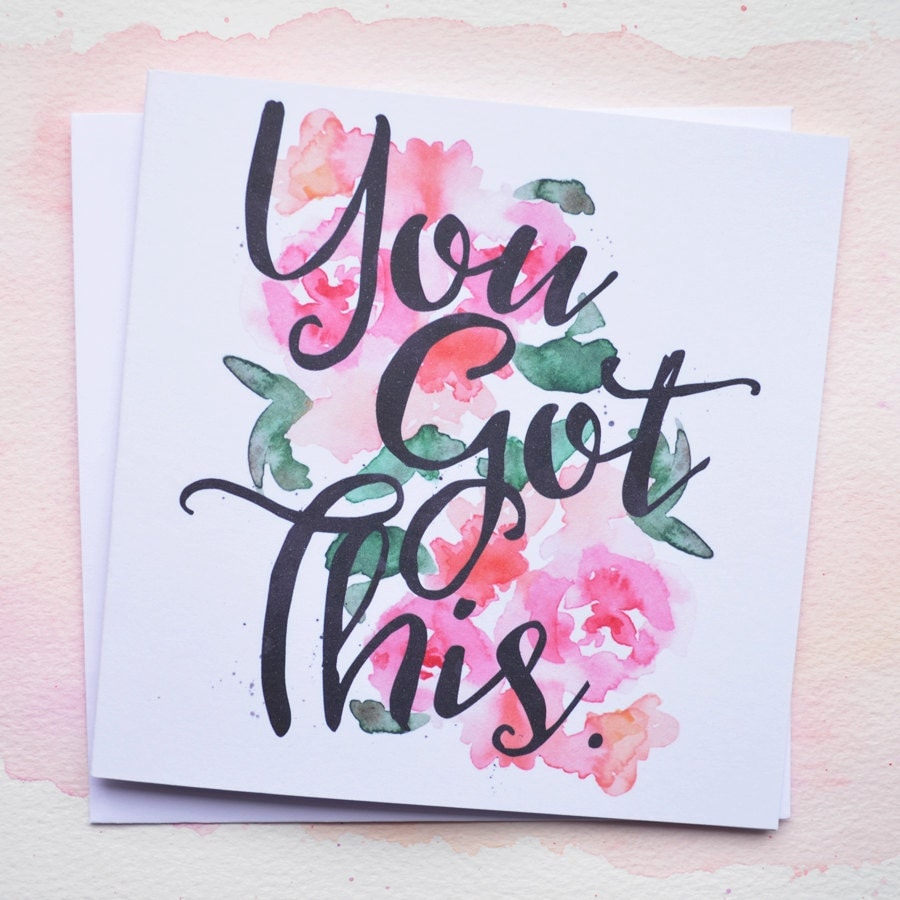 Wish Me Luck For My Exam Quotes: You Got This Good Luck Card New Job Exams Blank Inside