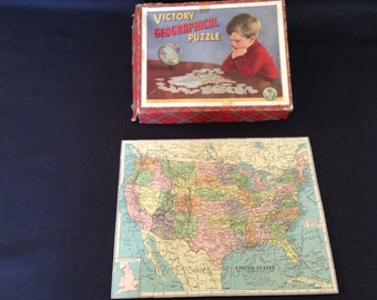 Vintage Victory Geographical Puzzle