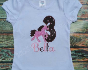 Vintage Pony Horse Birthday Shirt ANY color scheme and birthday