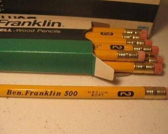 Vintage Blaisdell Ben Franklin Wood Pencils No. 2 Medium Soft  New