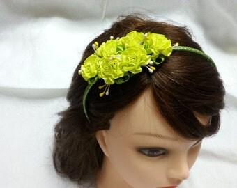 Flower girl flower crown, little girl flower crown