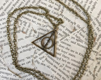 Deathly Hallows Necklace (Bronze)