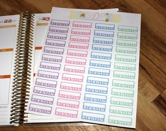 Pastel Weekly Task Boxes! Set of 48 Planner Stickers (056)