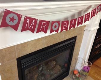 Custom Name Banner || Classroom Banner || Teacher Banner || Back to School Banner || Gift for Teacher