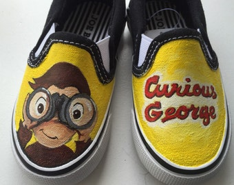 Hand-Painted Curious George Shoes