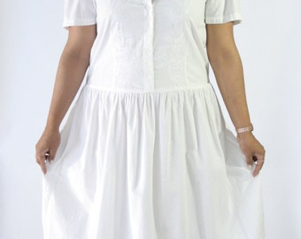 Indian Cotton White Sundress