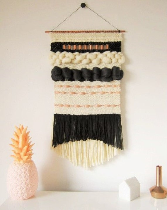 grand tissage mural tapisserie moderne avec laines haut de. Black Bedroom Furniture Sets. Home Design Ideas