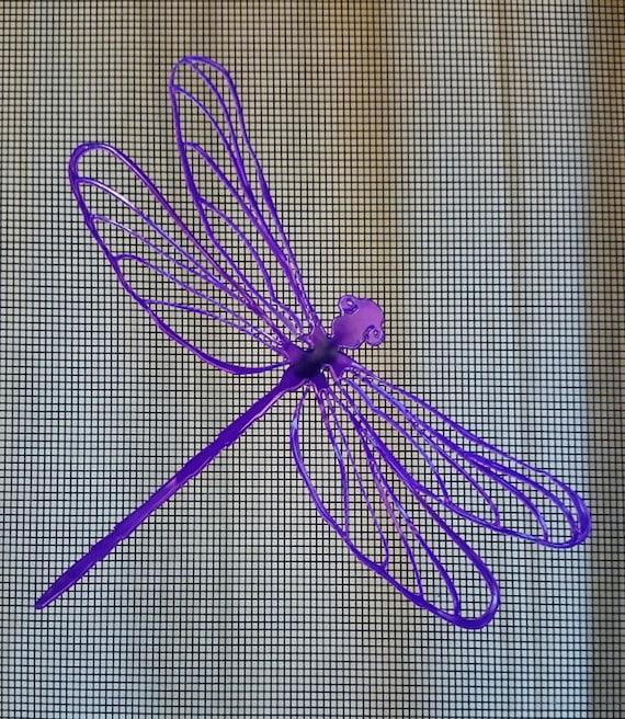 3d screen door saver magnetic decal magic dragonfly by vidogo for Retractable screen door magnets