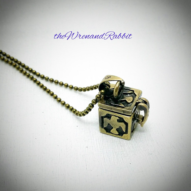 secret stash necklace bronze locket pendant prayer box