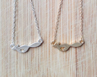 Fox bracelet, fox pendant, animal bracelet, cute bracelet in gold or silver