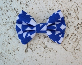 blue and white print bowtie, infant, toddler