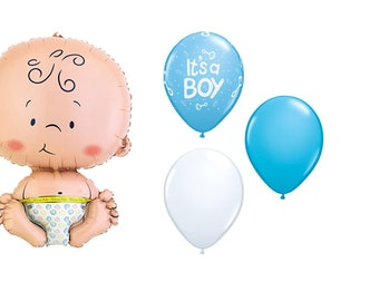 Boy or Girl with Baby Myalr Balloon
