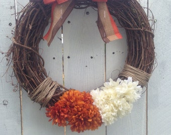 Fall Grapevine Wreath- Thanksgiving Wreath-Rustic Fall Grapevine Wreath-Autumn Wreath