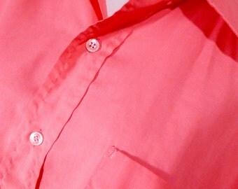 PINK Bowling Shirt Large Extra Large Classic XL Perma-Press