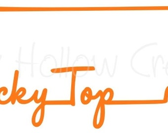 Tennessee Rocky top state outline cutting file SVG instant download for PERSONAL USE only!
