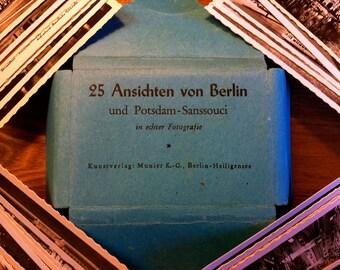 """German c1939 Photo Print Collection B&W ~ 25 Ansichten von Berlin und Potsdam-Sanssouci in echter Fotografie """"25 Views in real Photography"""""""