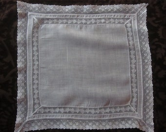 Vintage Lace-Edged Hanky