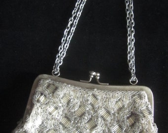 Vintage Made in Hong Kong Beaded Evening Handbag