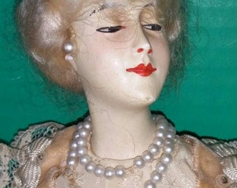 French Boudoir Half Doll 1920